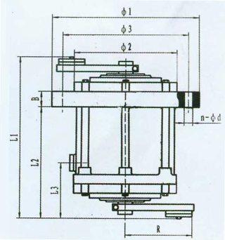 电机安装孔尺寸图