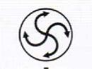 原料在旋振筛筛面的发散运动轨迹